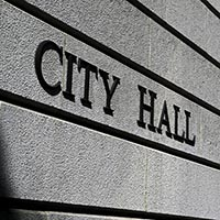 city hall sign image